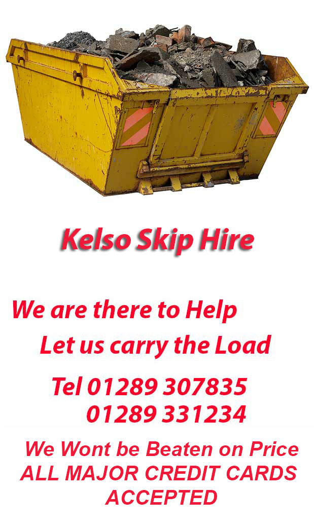 Kelso Skip Hire covers Spittal
